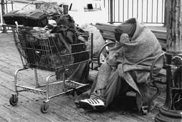 Homeless People with Shopping Carts