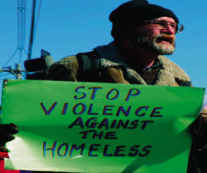 In Orange County, the homeless community was terrified by a serial killer who stalked and murdered homeless people.  Photo courtesy of National Coalition for the Homeless