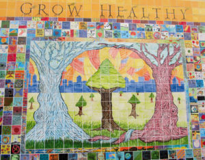 GROW HEALTHY. This beautiful mural in South Berkeley was created by Youth Spirit Artworks.  Ariel Messman-Rucker photo