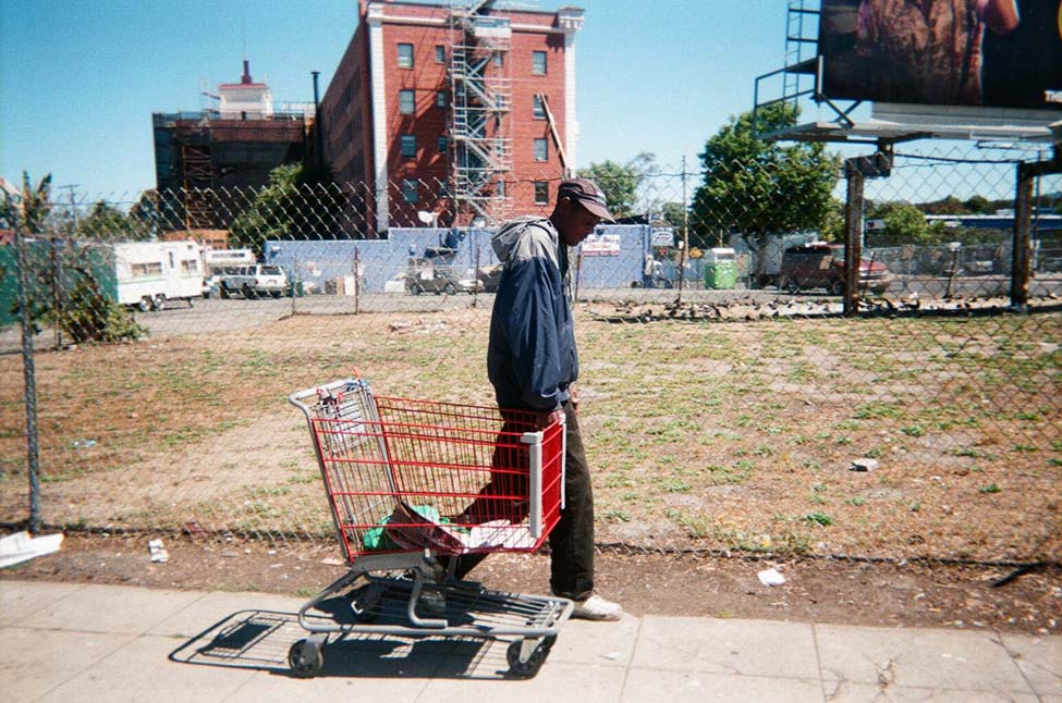 "Cart.jpg ""A Way to Survive.""  ""When I was homeless I used a shopping basket to carry my belongings and to recycle,"" said photographer Keith Arivnwine."