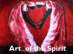 Art of the Spirit (Image of women making heart)