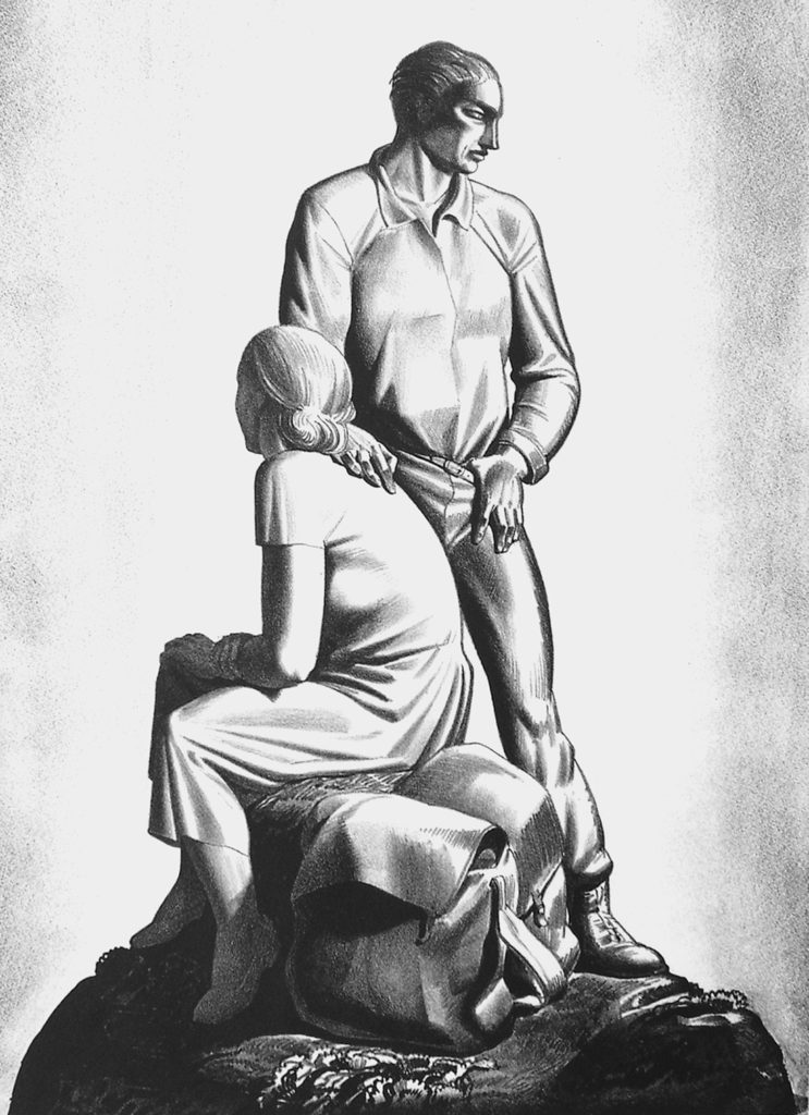 """And Now Where?"" Lithograph by Rockwell Kent"