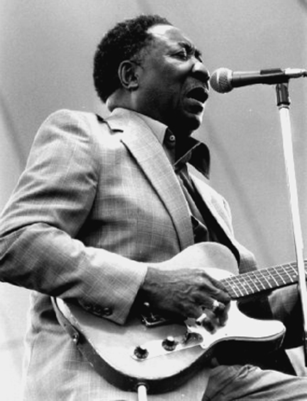 The great blues musician Muddy Waters (pictured above) grew up in this humble wooden shack (below) on the Stovall Plantation near Clarksdale, Mississippi.